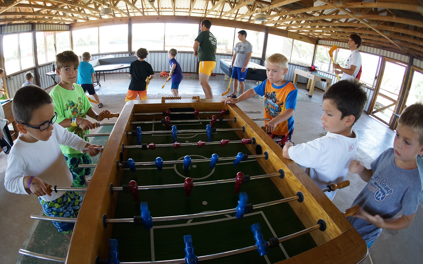 The game room at Camp Champions