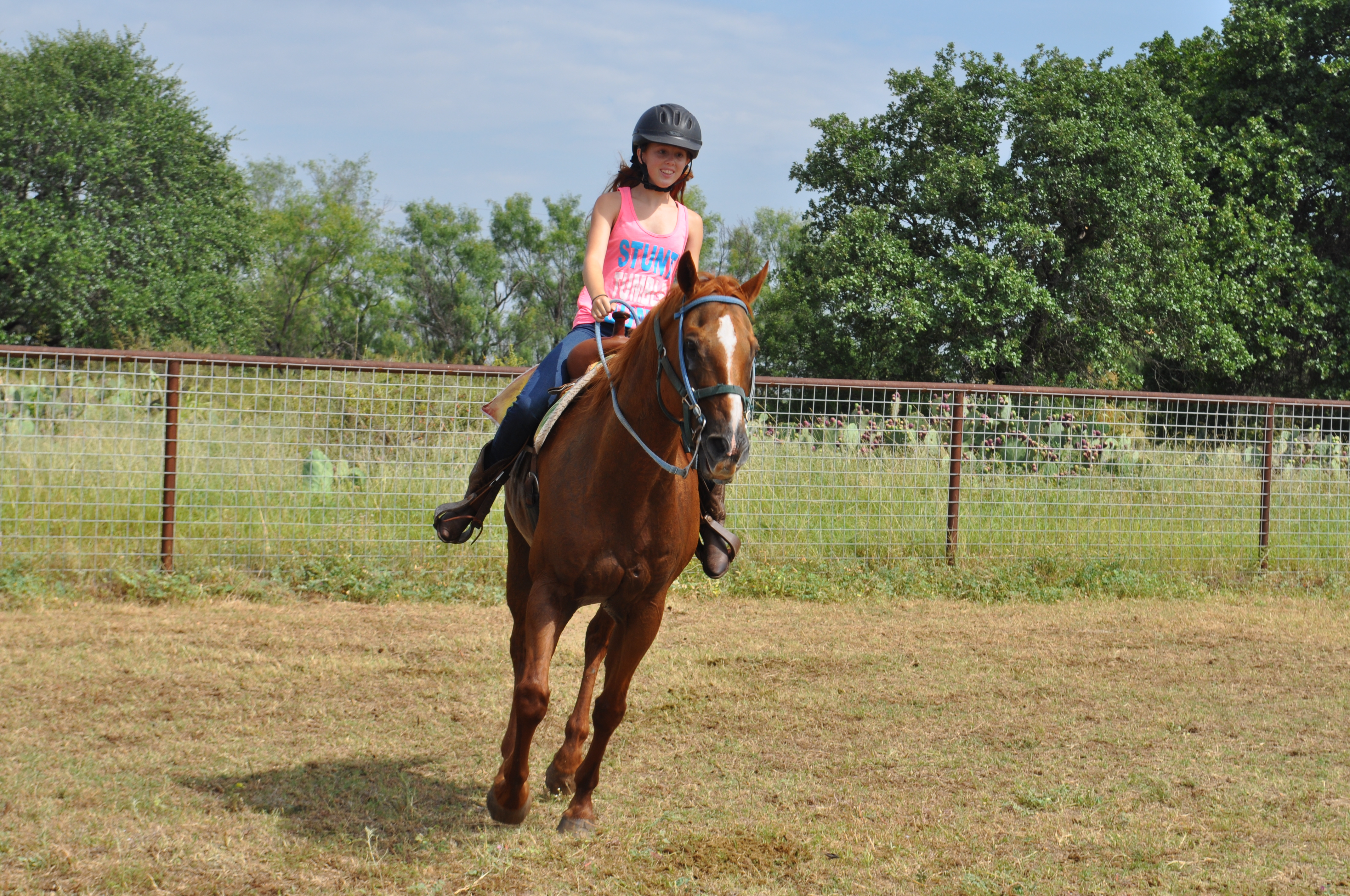 Horseback riding at camp is a special thrill!