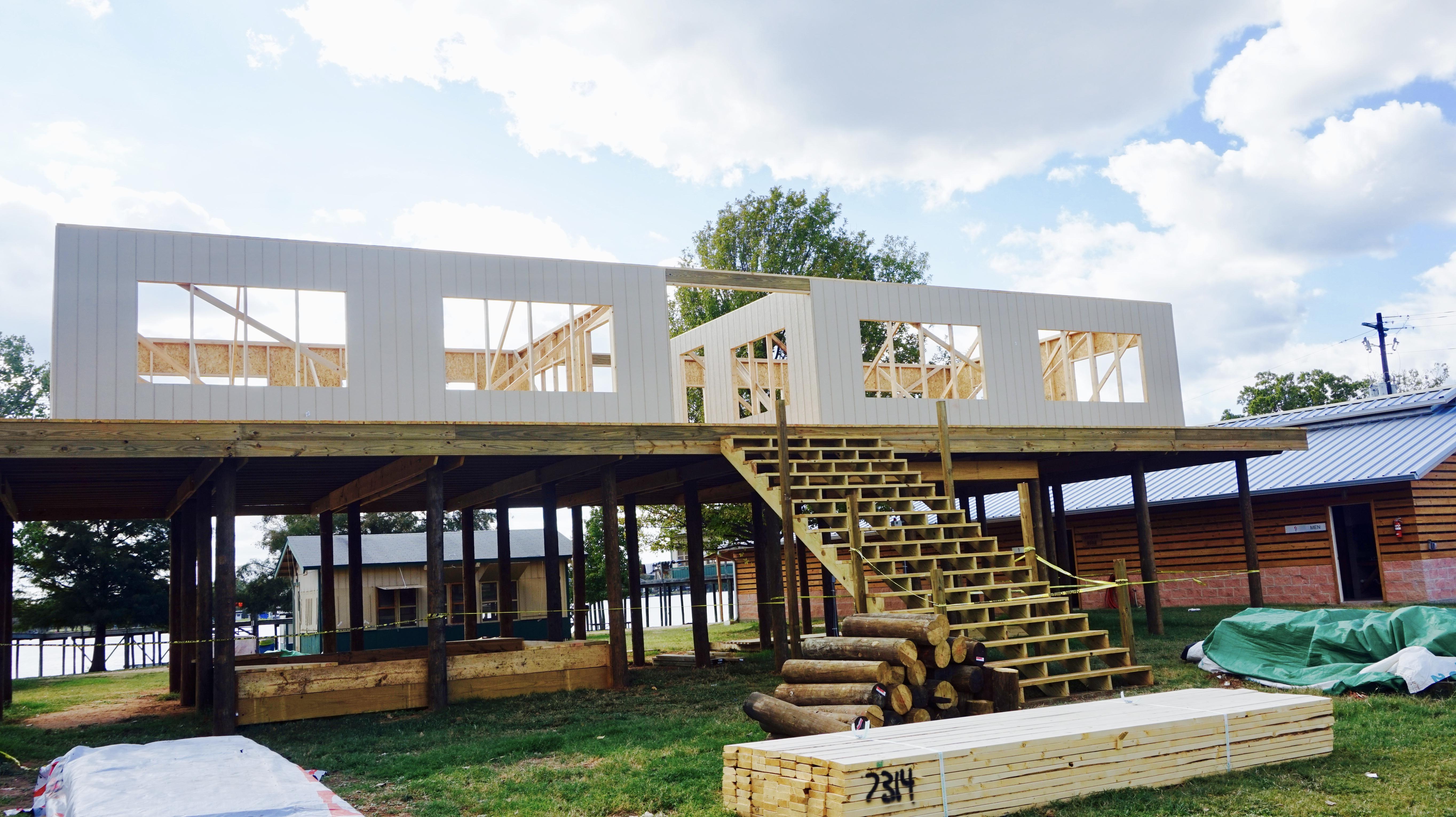 Lettermen cabins under construction, Oct. 2016
