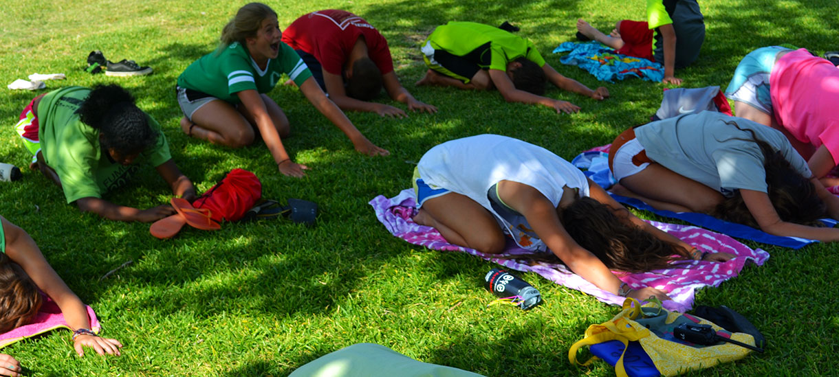 Looks relaxing, right? Yoga will give you a good workout, but you'll feel refreshed at the end. Come try it!