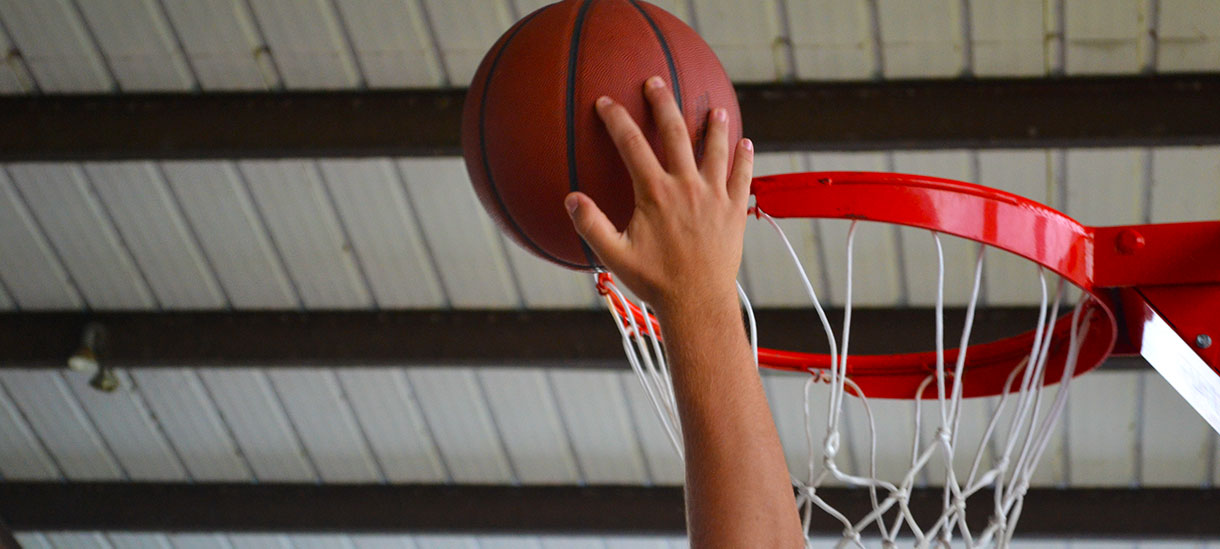 Ready to dunk? You'll love playing on our shaded, open-air court.