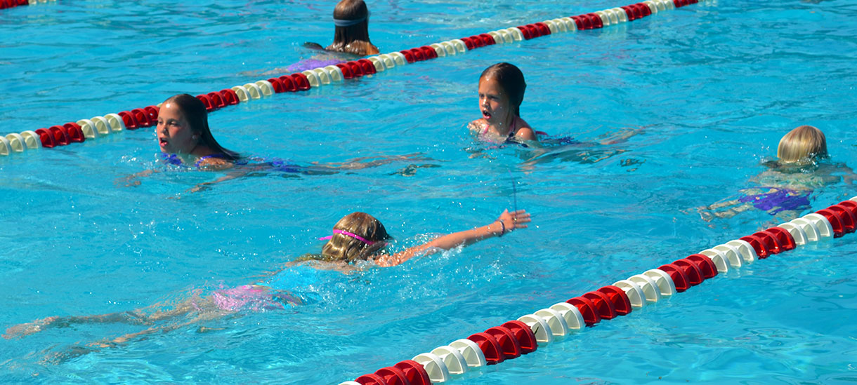 Campers learn new strokes to prepare for one of our favorite traditions--the kilometer swim.