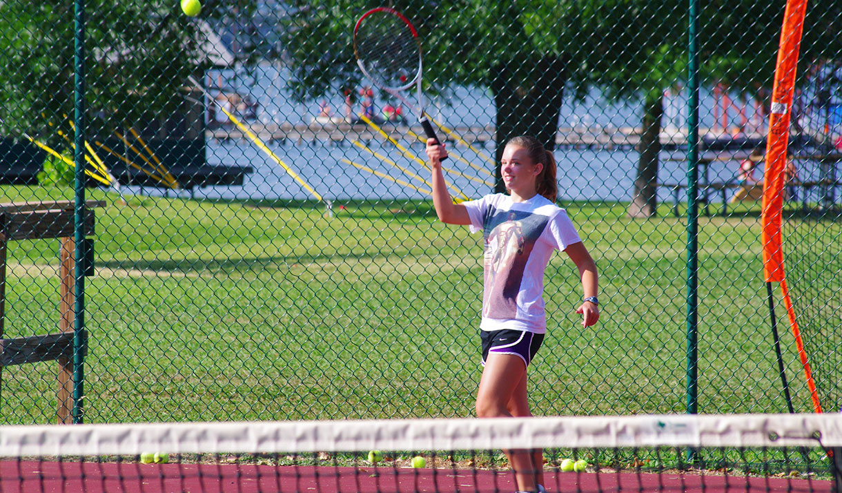 We offer all levels of tennis instruction. Pick up your racket and join in the fun!