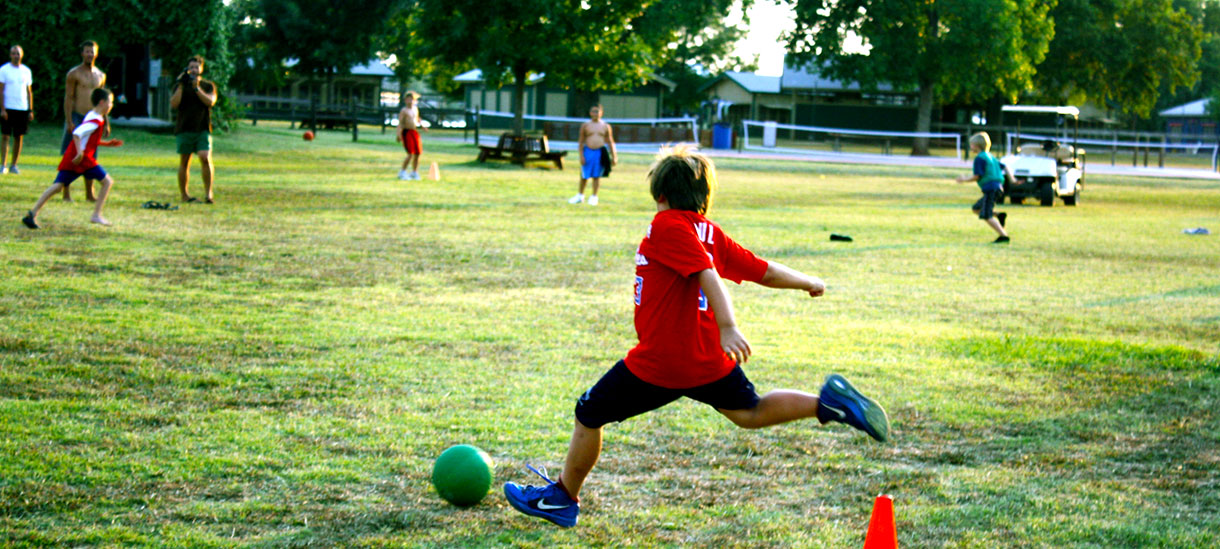 Who doesn't love an old-fashioned game of kickball?