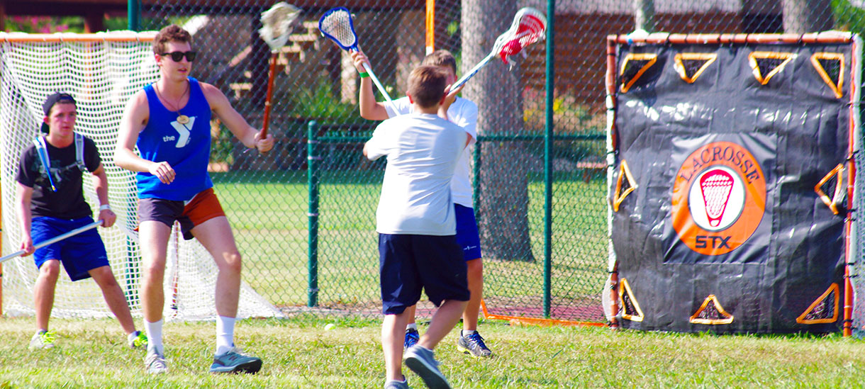 Blink and you'll miss in the fast paced game of lacrosse.
