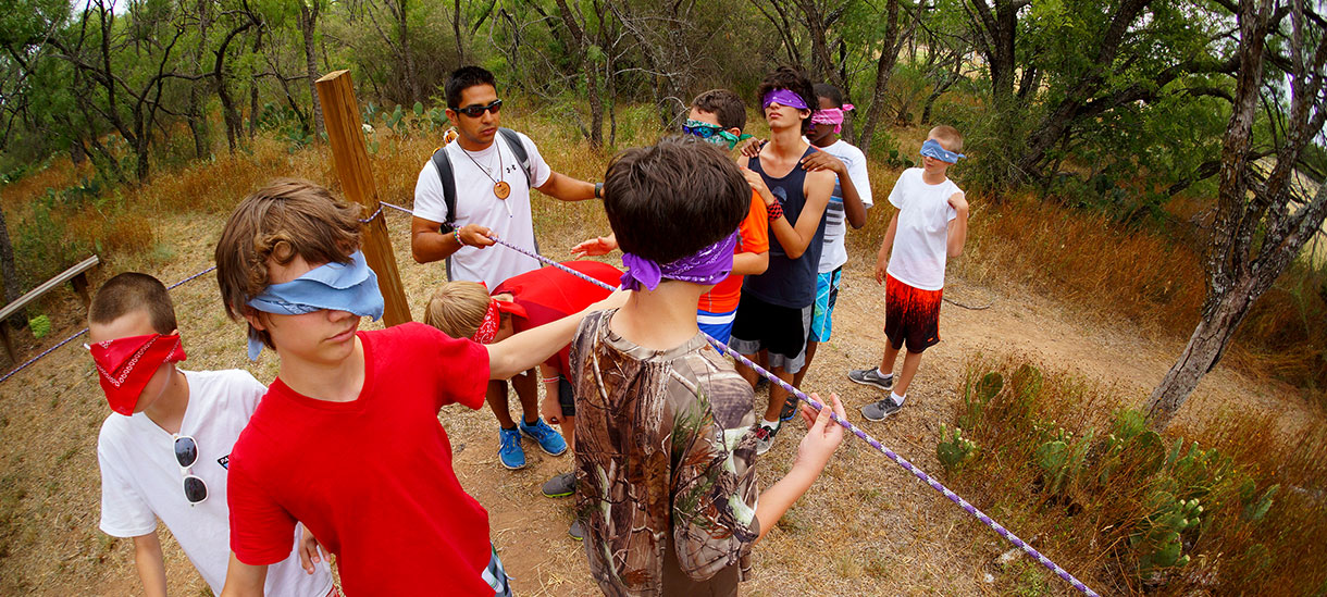 You've got to learn teamwork skills to succeed at camp.
